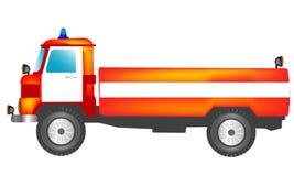 κόκκινο truck πυρκαγιάς διανυσματική απεικόνιση