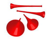 κόκκινο vuvuzela Στοκ εικόνα με δικαίωμα ελεύθερης χρήσης