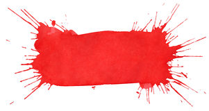 κόκκινο watercolor λεκέδων Στοκ Εικόνες