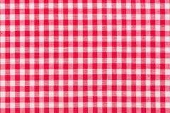 Κόκκινο, whire ελεγμένο ταρτάν, σχέδιο Στοκ Εικόνα