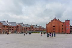 κόκκινο yokohama αποθηκών εμπορ&ep Στοκ φωτογραφία με δικαίωμα ελεύθερης χρήσης