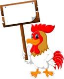Κόκκορας κοτόπουλου κινούμενων σχεδίων διανυσματική απεικόνιση