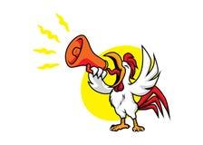Κόκκορας με megaphone Στοκ Εικόνα