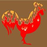 Κόκκορας πυρκαγιάς ελεύθερη απεικόνιση δικαιώματος