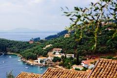 Κόλπος θάλασσας του νησιού Kerkira στοκ εικόνες