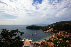 Κόλπος θάλασσας του νησιού Kerkira στοκ φωτογραφία