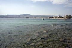 κόλπος Ιορδανία ακτών aqaba πο& Στοκ εικόνα με δικαίωμα ελεύθερης χρήσης