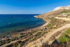 Κόλπος Μάλτα Imgiebah Στοκ φωτογραφίες με δικαίωμα ελεύθερης χρήσης