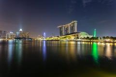 Κόλπος μαρινών, Σιγκαπούρη - 1 Απριλίου 2018 - άποψη της άμμου κόλπων μαρινών στοκ εικόνες με δικαίωμα ελεύθερης χρήσης