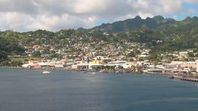 Κόλπος, πόλη και λιμένας στο νησί στην καραϊβική θάλασσα Kingstown, Άγιος Vincent και Γρεναδίνες φιλμ μικρού μήκους
