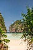 Κόλπος της Maya Phi Phi στο νησί Leh, επαρχία Krabi, Ταϊλάνδη Στοκ εικόνα με δικαίωμα ελεύθερης χρήσης