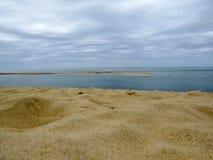 Κόλπος του Αρκασόν και αμμόλοφος Pilat, κόλπος του Αρκασόν, Ατλαντικός Ωκεανός, Aquitaine Διάσημος τόπος προορισμού τουριστών στη στοκ φωτογραφίες με δικαίωμα ελεύθερης χρήσης