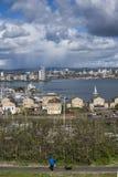 Κόλπος του Κάρντιφ από Penarth στοκ εικόνα με δικαίωμα ελεύθερης χρήσης