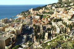 Κόλπος του Μονακό, Μόντε Κάρλο, πόλη, Στοκ φωτογραφία με δικαίωμα ελεύθερης χρήσης