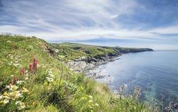 Κόλπος Abereiddi στη φωτεινή θερινή ημέρα σε Pembrokeshire στοκ φωτογραφία με δικαίωμα ελεύθερης χρήσης