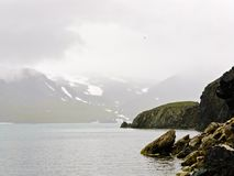 Κόλπος Guba Gribovaja σε Novaya Zemlya (νέο έδαφος) Στοκ εικόνα με δικαίωμα ελεύθερης χρήσης