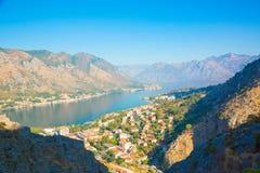 Κόλπος Kotorska Boka Μαυροβούνιο Στοκ εικόνες με δικαίωμα ελεύθερης χρήσης