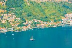 Κόλπος Kotorska Boka Μαυροβούνιο Στοκ Φωτογραφίες