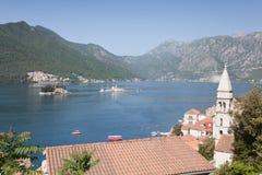 Κόλπος Kotorska Boka, Μαυροβούνιο Στοκ εικόνες με δικαίωμα ελεύθερης χρήσης