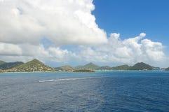 Κόλπος Simpson - καραϊβικό τροπικό νησί - αμαρτία Maarten Στοκ φωτογραφία με δικαίωμα ελεύθερης χρήσης