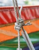 Κόμβος σχοινιών δεσμών Στοκ φωτογραφία με δικαίωμα ελεύθερης χρήσης