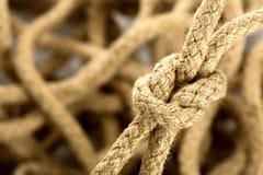 Κόμβος σχοινιών Στοκ φωτογραφία με δικαίωμα ελεύθερης χρήσης