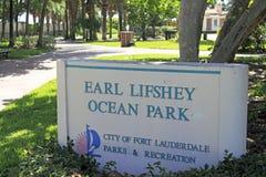 Κόμης Lifshey Ocean Park Sign Στοκ φωτογραφία με δικαίωμα ελεύθερης χρήσης