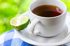 Κόμη Grey τσάι με το κίτρο Στοκ Φωτογραφία