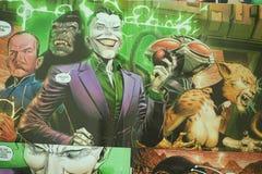 Κόμικς superhero ένωσης δικαιοσύνης στοκ εικόνες με δικαίωμα ελεύθερης χρήσης