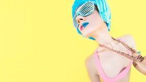 Κόμμα βανίλιας Τρελλό κορίτσι Στοκ φωτογραφίες με δικαίωμα ελεύθερης χρήσης