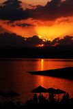 Κόμμα ηλιοβασιλέματος στοκ φωτογραφία με δικαίωμα ελεύθερης χρήσης