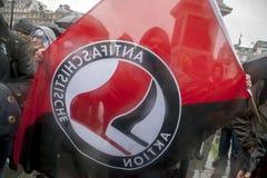 Κόμμα θανάτου της Θάτσερ, πλατεία Τραφάλγκαρ, Λονδίνο Στοκ εικόνα με δικαίωμα ελεύθερης χρήσης