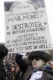 Κόμμα θανάτου της Θάτσερ, πλατεία Τραφάλγκαρ, Λονδίνο στοκ εικόνες
