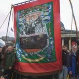 Κόμμα θανάτου της Θάτσερ, πλατεία Τραφάλγκαρ, Λονδίνο στοκ φωτογραφία με δικαίωμα ελεύθερης χρήσης