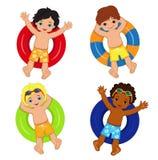 Κόμμα λιμνών για τα αγόρια επίσης corel σύρετε το διάνυσμα απεικόνισης Στοκ Εικόνες