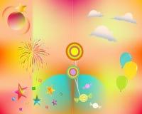 Κόμμα και χρώματα Στοκ Φωτογραφία