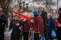 Κόμμα κομμουνιστών στην ημέρα α Μάιος στοκ φωτογραφίες με δικαίωμα ελεύθερης χρήσης
