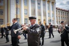 Κόμμα κομμουνιστών στην ημέρα α Μάιος Στοκ Εικόνες