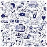 Κόμμα μουσικής - doodles Στοκ Φωτογραφίες