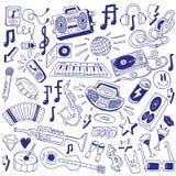 Κόμμα μουσικής - doodles Στοκ Εικόνες