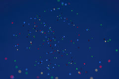 Κόμμα μπαλονιών Αστεία συμβολικά αντικείμενα μπαλόνια ανασκόπησης ζωηρό& Δραστηριότητα ελεύθερου χρόνου χρώματα δονούμενα Στοκ Φωτογραφίες
