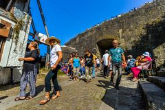 Κόμμα οδών στο Πόρτο - την Πορτογαλία στοκ φωτογραφίες με δικαίωμα ελεύθερης χρήσης