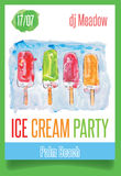 Κόμμα παγωτού Watercolor Στοκ φωτογραφία με δικαίωμα ελεύθερης χρήσης
