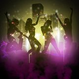 Κόμμα σκιαγραφιών κοριτσιών Στοκ φωτογραφία με δικαίωμα ελεύθερης χρήσης