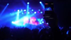 Κόμμα συναυλίας Smartphone απόθεμα βίντεο