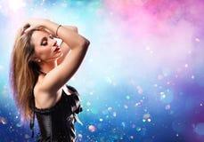 Κόμμα Disco - που χορεύει στοκ φωτογραφίες