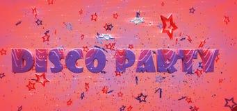 Κόμμα Disco Στοκ εικόνες με δικαίωμα ελεύθερης χρήσης