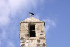 Κόρακας στον πύργο κουδουνιών στοκ φωτογραφίες με δικαίωμα ελεύθερης χρήσης