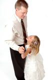 κόρη χορού μπαμπάδων στοκ φωτογραφία με δικαίωμα ελεύθερης χρήσης