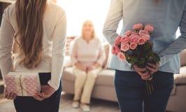 Κόρη, mom και γιαγιά Στοκ Εικόνες